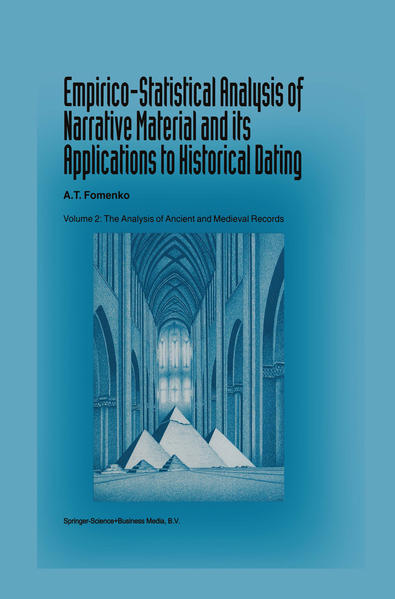 Empirico-Statistical Analysis of Narrative Material and its Applications to Historical Dating - Coverbild