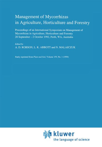 Management of Mycorrhizas in Agriculture, Horticulture and Forestry - Coverbild