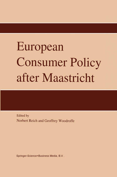 European Consumer Policy after Maastricht - Coverbild