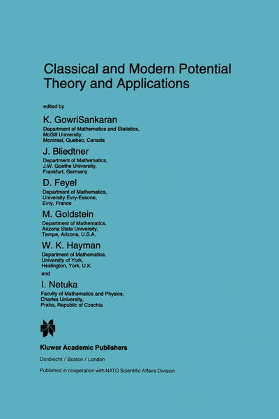 Classical and Modern Potential Theory and Applications - Coverbild