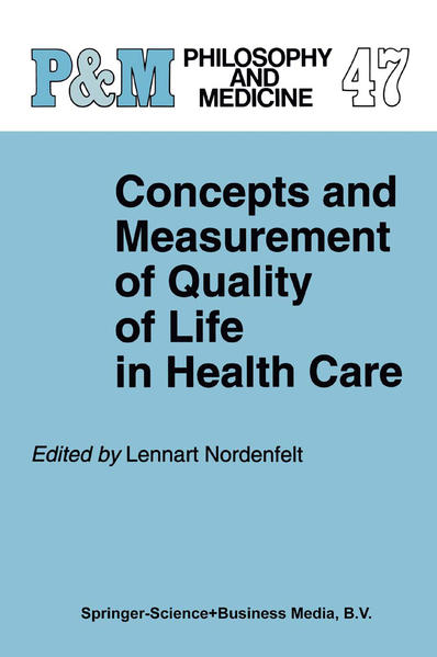 Concepts and Measurement of Quality of Life in Health Care - Coverbild