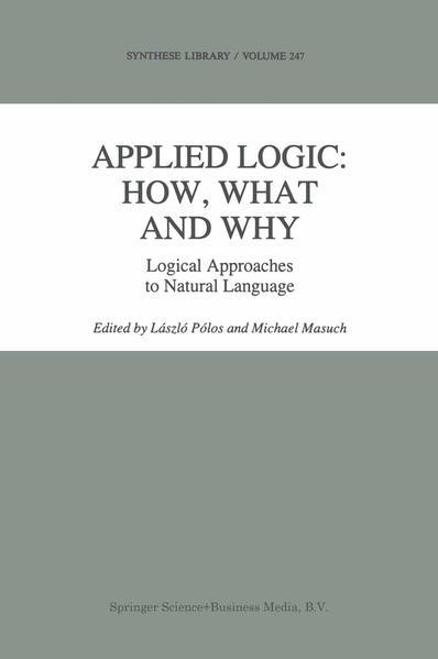 Applied Logic: How, What and Why - Coverbild