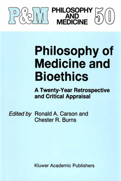 Philosophy of Medicine and Bioethics - Coverbild