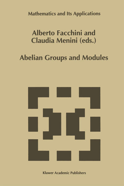 Abelian Groups and Modules - Coverbild