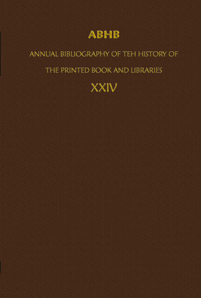 ABHB/ Annual Bibliography of the History of the Printed Book and Libraries - Coverbild