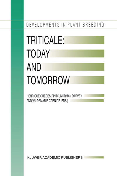 Triticale: Today and Tomorrow - Coverbild