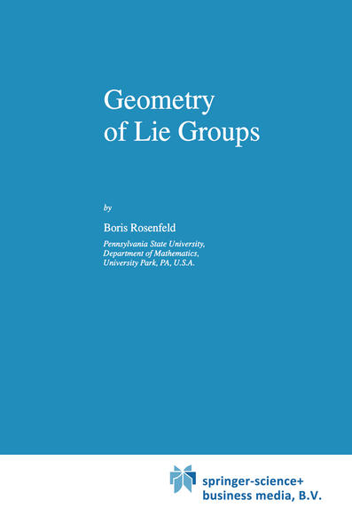 Geometry of Lie Groups - Coverbild