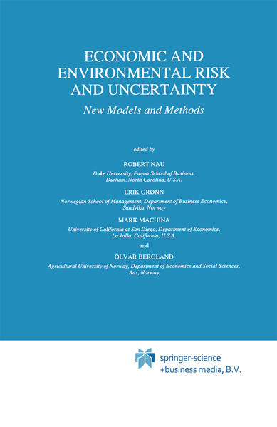 Economic and Environmental Risk and Uncertainty - Coverbild
