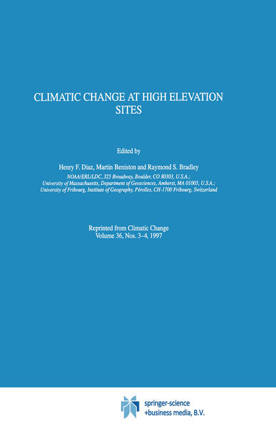 Climatic Change at High Elevation Sites - Coverbild