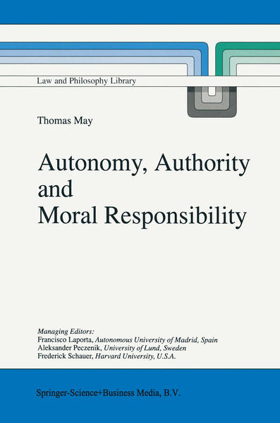 Autonomy, Authority and Moral Responsibility - Coverbild