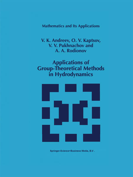 Applications of Group-Theoretical Methods in Hydrodynamics - Coverbild