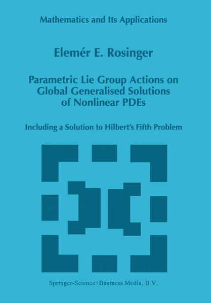 Parametric Lie Group Actions on Global Generalised Solutions of Nonlinear PDEs - Coverbild