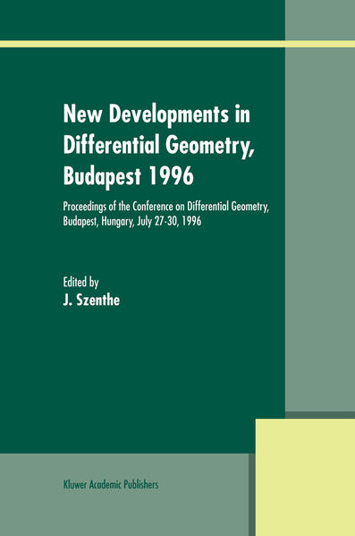 New Developments in Differential Geometry, Budapest 1996 - Coverbild