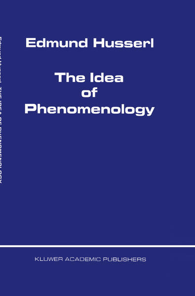 The Idea of Phenomenology - Coverbild