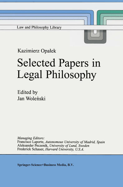Kazimierz Opałek Selected Papers in Legal Philosophy - Coverbild