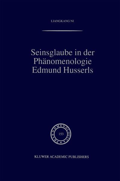 Seinsglaube in der Phänomenologie Edmund Husserls - Coverbild