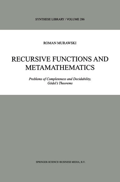 Recursive Functions and Metamathematics - Coverbild