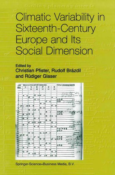 Climatic Variability in Sixteenth-Century Europe and Its Social Dimension - Coverbild