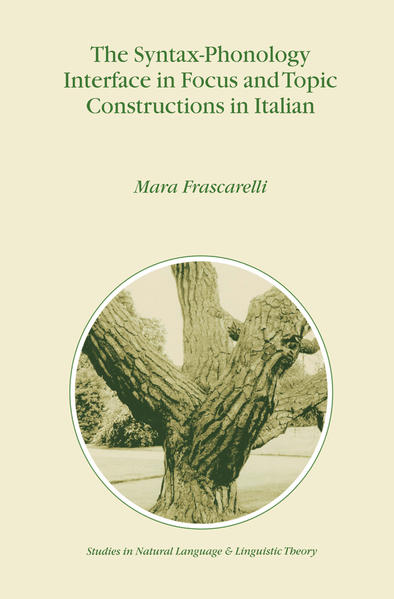 The Syntax-Phonology Interface in Focus and Topic Constructions in Italian - Coverbild