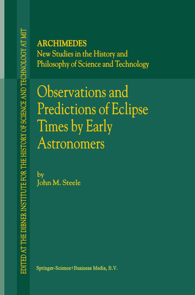 Observations and Predictions of Eclipse Times by Early Astronomers - Coverbild