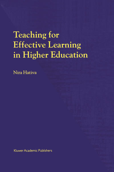Teaching for Effective Learning in Higher Education - Coverbild