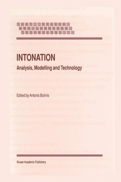 Intonation - Coverbild