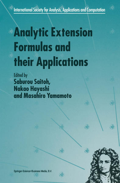 Analytic Extension Formulas and their Applications - Coverbild