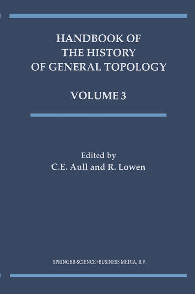Handbook of the History of General Topology - Coverbild