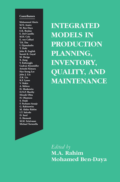 Integrated Models in Production Planning, Inventory, Quality, and Maintenance - Coverbild