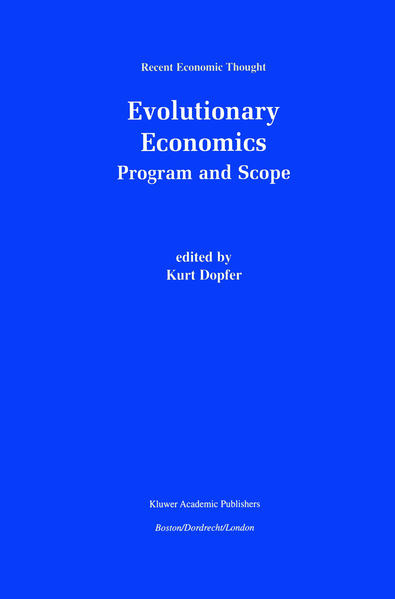 Evolutionary Economics: Program and Scope - Coverbild