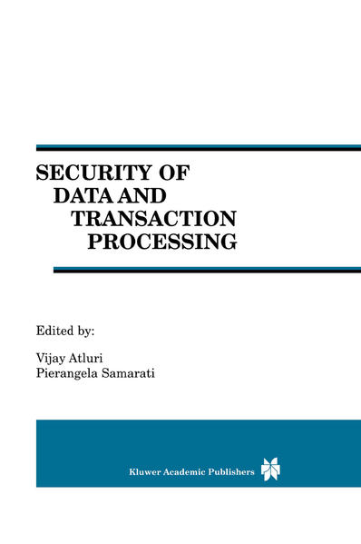 Security of Data and Transaction Processing - Coverbild