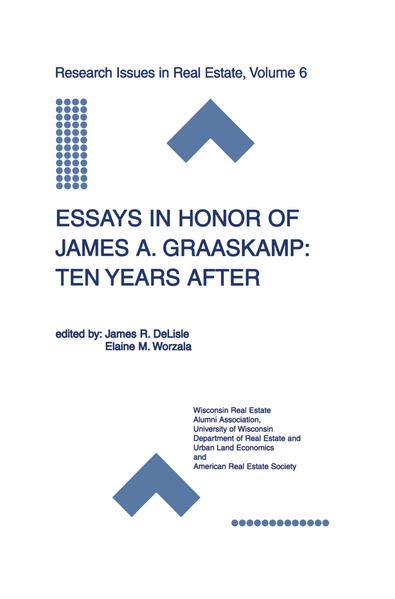 Essays in Honor of James A. Graaskamp: Ten Years After - Coverbild