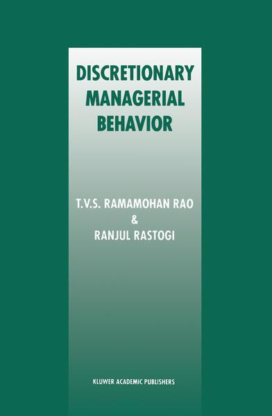 Discretionary Managerial Behavior - Coverbild