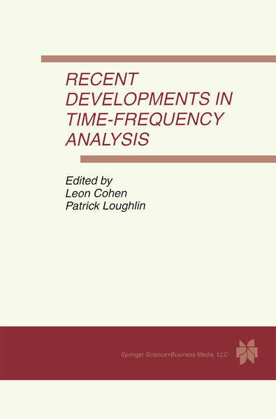 Recent Developments in Time-Frequency Analysis - Coverbild