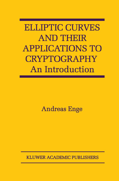 Elliptic Curves and Their Applications to Cryptography - Coverbild