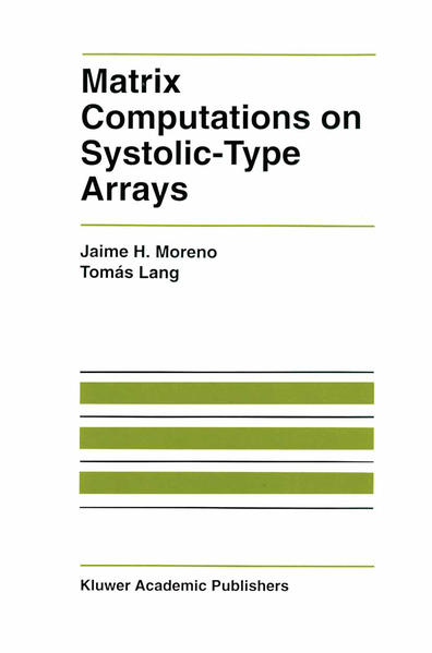 Matrix Computations on Systolic-Type Arrays - Coverbild