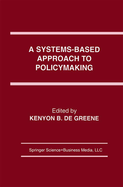 A Systems-Based Approach to Policymaking - Coverbild