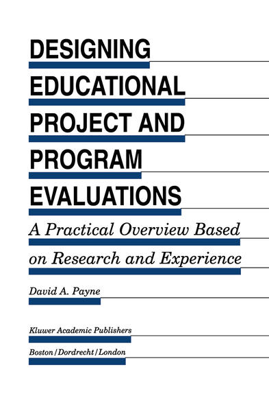 Designing Educational Project and Program Evaluations - Coverbild