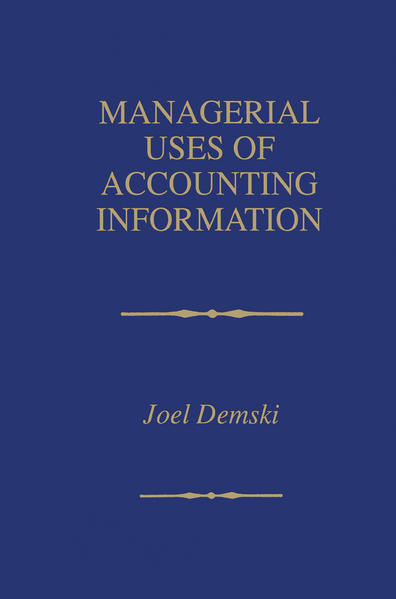 Managerial Uses of Accounting Information - Coverbild
