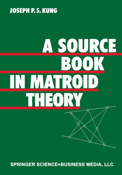A Source Book in Matroid Theory - Coverbild