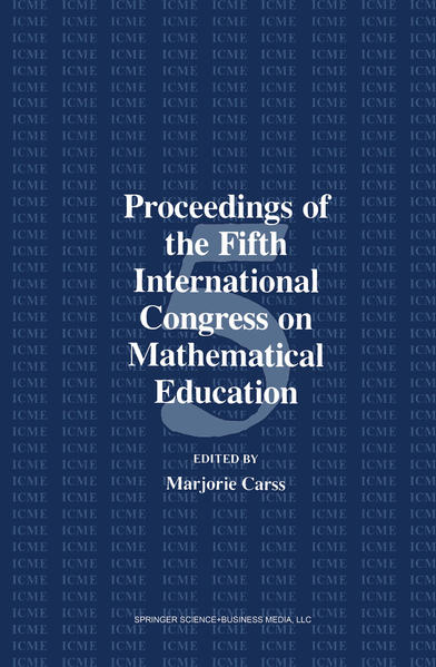 Proceedings of the Fifth International Congress on Mathematical Education - Coverbild