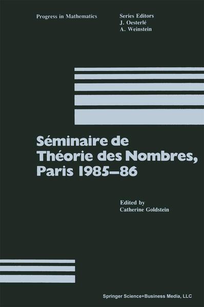 Séminaire de Théorie des Nombres, Paris 1985–86 - Coverbild