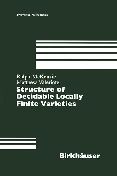 Structure of Decidable Locally Finite Varieties - Coverbild