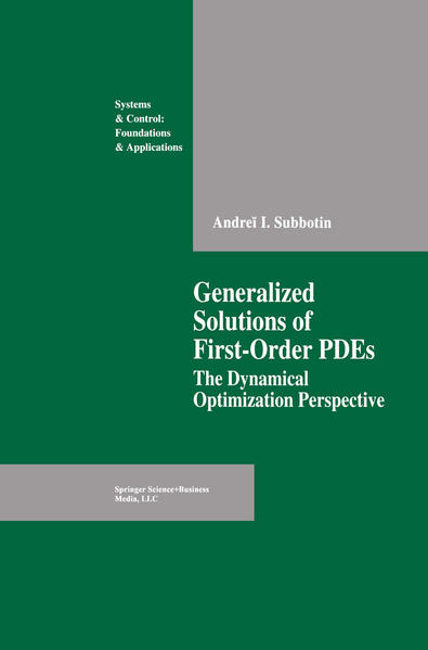 Generalized Solutions of First Order PDEs - Coverbild