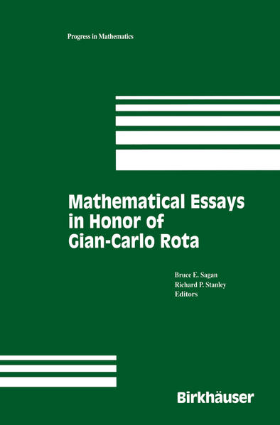 Mathematical Essays in honor of Gian-Carlo Rota - Coverbild