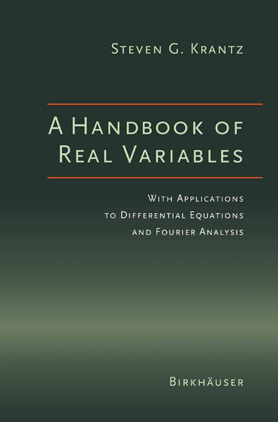 A Handbook of Real Variables - Coverbild