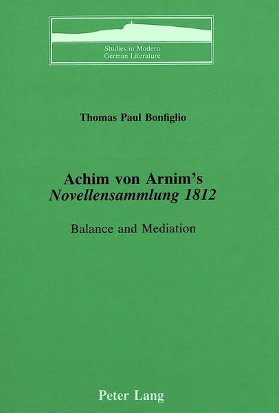 Achim von Arnim's «Novellensammlung 1812» - Coverbild