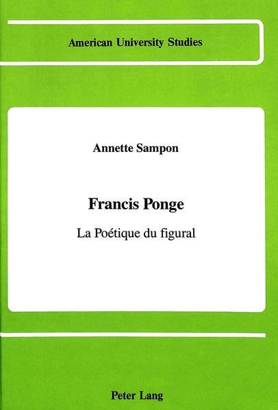 Francis Ponge - Coverbild