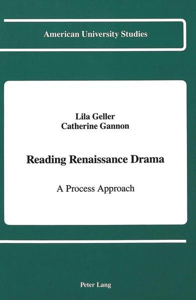 Reading Renaissance Drama - Coverbild