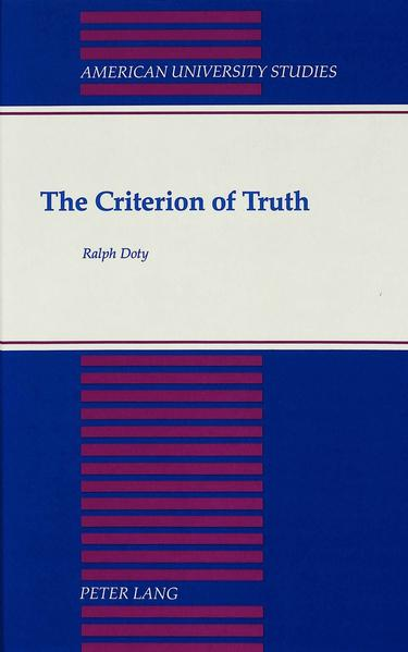 The Criterion of Truth - Coverbild